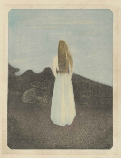 Edvard Munch Young Woman on the Beach