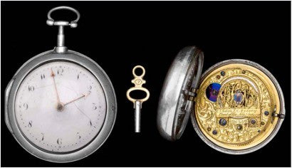 Nelson Silver Pair Cased Pocket Watch