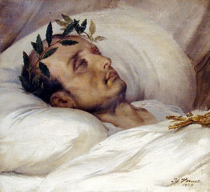 Napoleon Death Bed painting