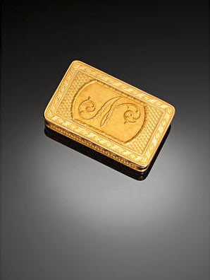 Napoleon gold snuff box