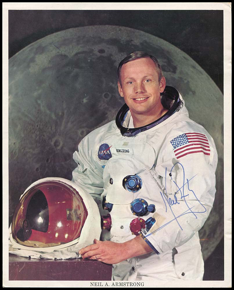 Neil Armstrong signed lithograph