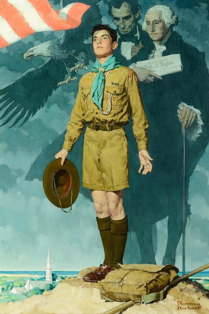 Norman Rockwell A Scout is Loyal