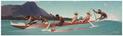 Norman Rockwell The Thing to dow with Life is Live it (Outrigger Canoe)