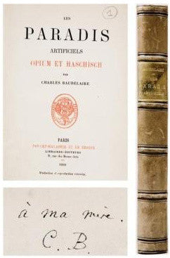 Paradis Artificiels Opium Et Haschisch Artificial Paradises Opium Hashish first edition