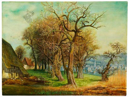 Otto Dix's Pear Trees painting