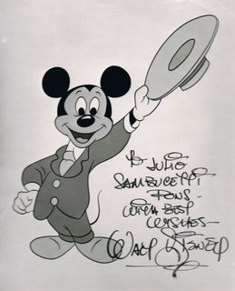 Walt Disney, signed note