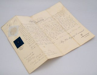 Letter of appointment, signed by Queen Victoria