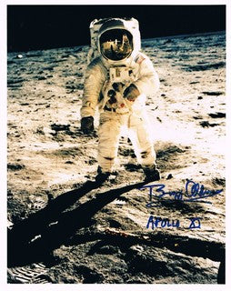 Buzz Aldrin, signed photograph