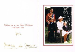 Charles and Diana signed Christmas card