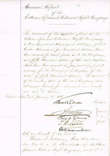 Thomas Edison, signed document