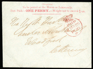 1840 1d Houses of Lords Envelope