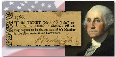 George Washington Signed Lottery Ticket