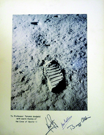 Photograph signed and inscribed by Apollo 11 crew, Neil Armstrong, Buzz Aldrin and Michael Collins