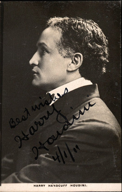 Signed photograph of Harry Houdini