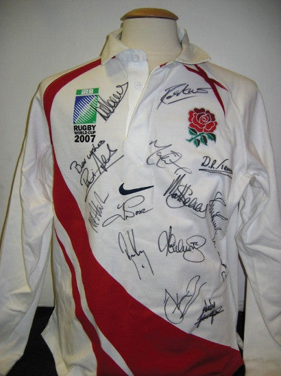 signed rugby union shirt