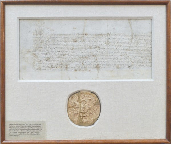 Elizabeth I signed document