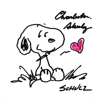 Charles Schulz Snoopy signed