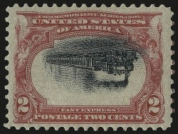 Pan American 2c gem stamp