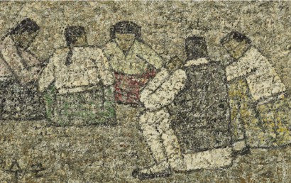 Park Sookeun Five Seated Figures