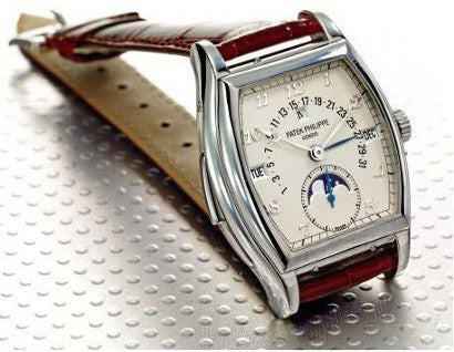 Patek Philippe Platinum Tonneau Automatic Minute Repeating wristwatch