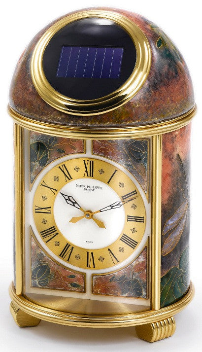 Patek Philippe flower garden bronze clock