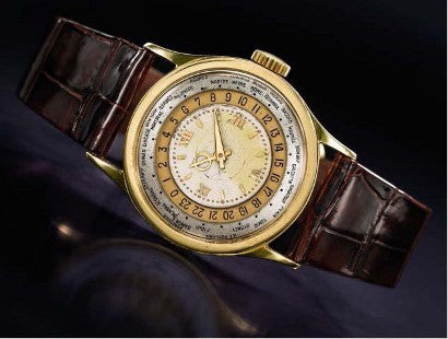 Patek Philippe gold World Time wristwatch