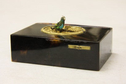 Patek Philippe miniature tortoiseshell & gold music box