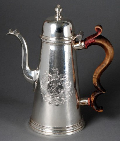 Paul DeLamerie Sterling Silver Coffee Pot