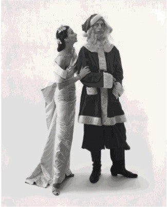 Irving Penn's Dorian Leigh and Ray Bolger as Santa photo for Vogue