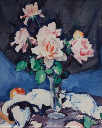 Samuel John Peploe auction spare room painting Pink Rose