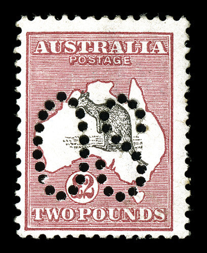 Perforated OS official kangaroo stamp