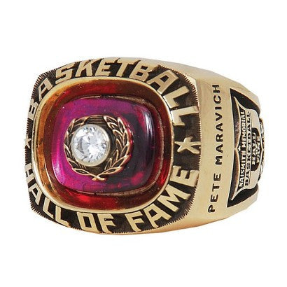 Pete Maravich Hall of Fame ring
