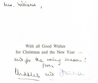 Charles and Diana, signed Christmas card