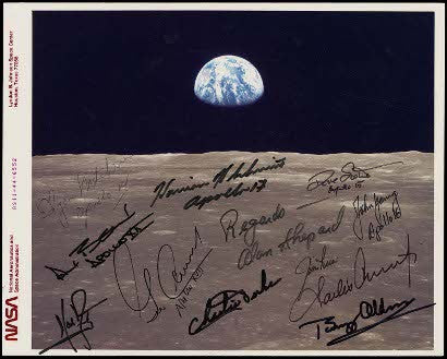 Photograph signed by all 12 moonwalkers including Neil Armstrong, Buzz Aldrin, Alan Shepard
