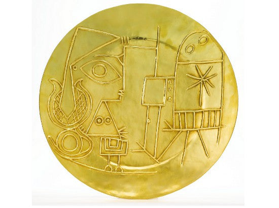 Picasso gold plate