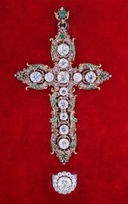 Pope Paul VI's pectoral cross jewellery and ring