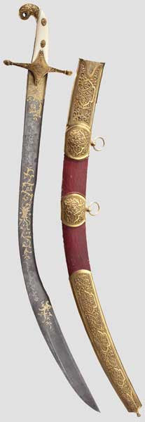 Presentation sabre from Turkish Sultan Mahmud II to Otto I of Greece