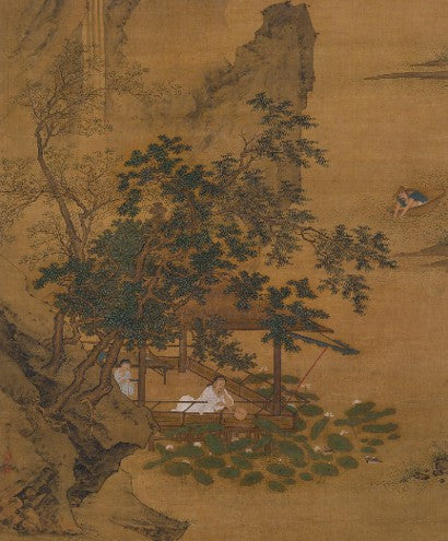 Qiu Ying Summer Reverie by the Lotus Pond