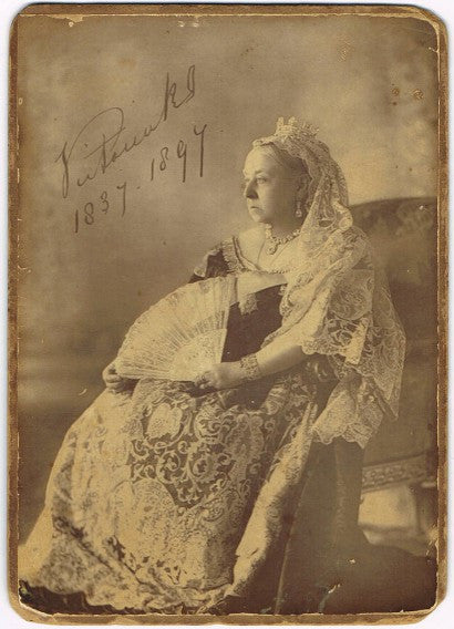 Queen Victoria signed photograph