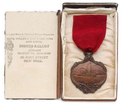Carpathia medal awarded after RMS Titanic rescue