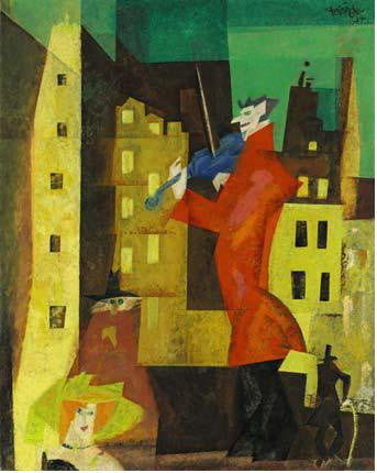 Feininger der rotegeiger The Red Fiddler