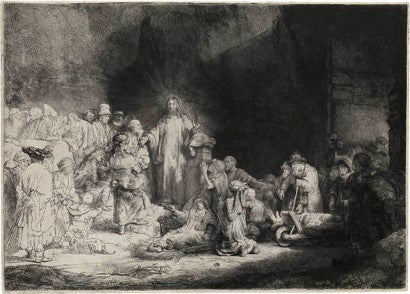 Rembrandt van Rijn Christ Healing the Sick