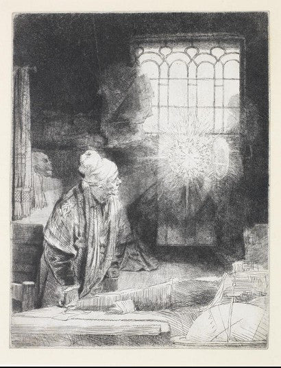 Rembrandt Faust Etching