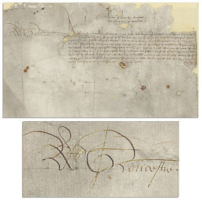 Richard III signed document