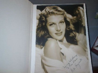 Rita Hayworth signed photo