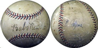 Ruth-Capon signed baseball auctions online for $62,000