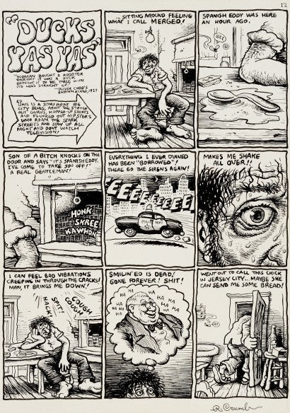 Robert Crumb original art Zap Comix