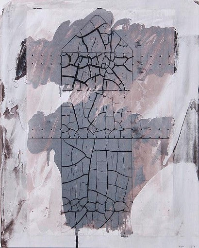 Robert Rauschenberg cracked surface