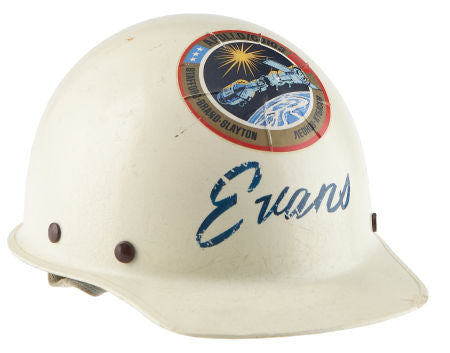 Apollo 17 Command Module Pilot Ron Evans's hard hat