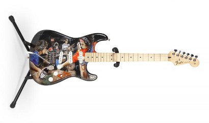 Ronnie Wood signed guitar auction